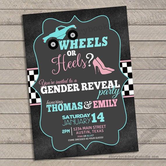 Race Car Gender Reveal