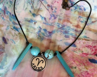 Choker Style Ball&Tooth Zodiac Necklace