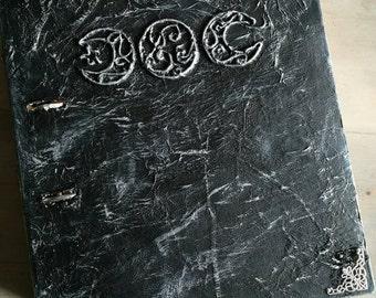 Triple Goddess book of shadows black/silver.