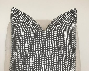 Grey and White Dot Pillow Cover