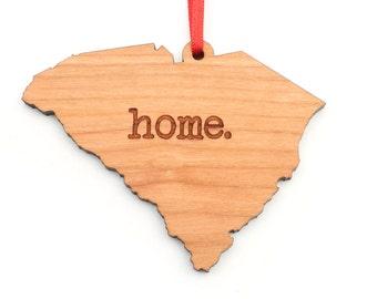 South Carolina home. Christmas Ornament - SC South Carolina Ornament - Home Christmas Ornament