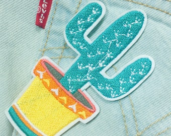 Ae/cactus/free shipping iron on patch /embroidery appliqués
