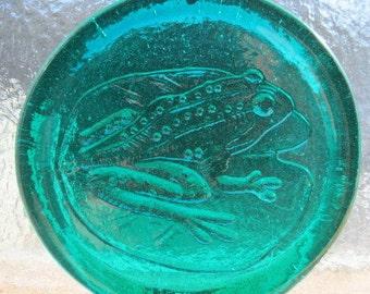 "Medium Cape Cod Frog Suncatcher Ornament Pressed Art Glass -  Size 3 1/2"" +"