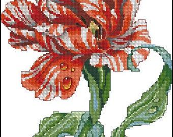 Tulip. Cross Stitch Pattern PDF Instant Download