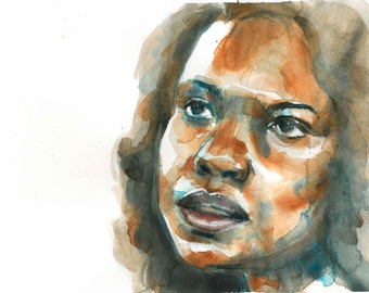 Print of Anita Hill watercolor painting