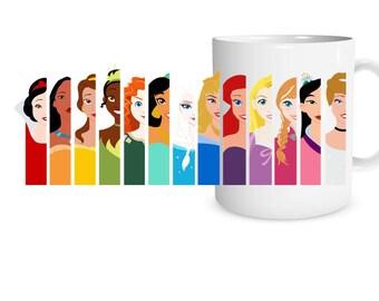 All the Princesses FULL WRAP mug Ceramic Mug