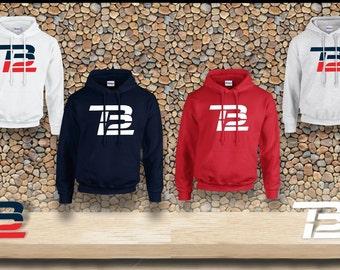 Tom Brady Sweatshirt | TB12 Hooded Sweatshirt | New England Patriots Hoodie