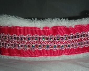Pink Jewel Padded Collar