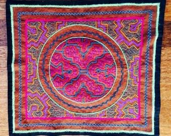 Shipibo Textile Mesa Icaro of Ayahuasca  43 x 38 CM