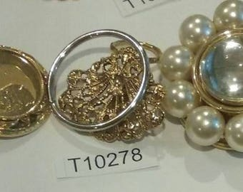 Vintage, Old stock, Jewelry lot, repair, Repurpose, Salvage, lot, finding lot,  T10278