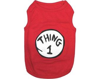 Thing 1 Dog T-Shirt, Dog Clothes, Pet Shirts