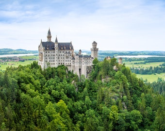 Neuschwanstein Castle, Germany Photography, Neuschwanstein Print, Fine Art Photography, Photographic Print, Architectural Photography