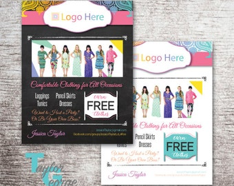 Lula Flyer - Pop Up Party Flyer - Leggings Flyer - Join Our Team Flyer - With YOUR Info - Chalkboard - Paisley