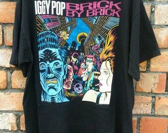 Vintage iggy pop tour 90-91 shirt rare.