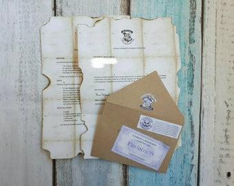 Letter entered #Hogwarts of Harry Potter