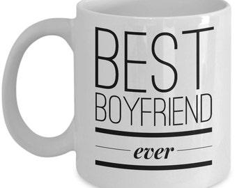 Cool Coffee Mug for Boyfriend - Best boyfriend ever - Unique gift mug for him, her, mom, dad, kids, husband, wife, boyfriend, men, women