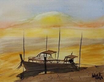 R E S T On the Beach (Original Painting)