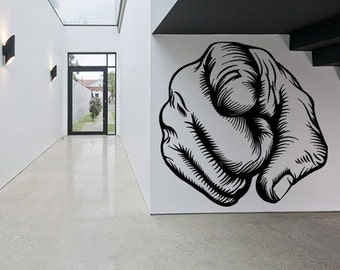 Wall Decal Sticker Bedroom human hand pointing finger 256b