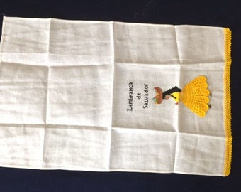 Kitchen Towel with a Yellow Dress Design