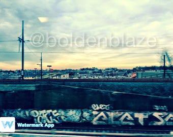 Train Ride Graffiti photo