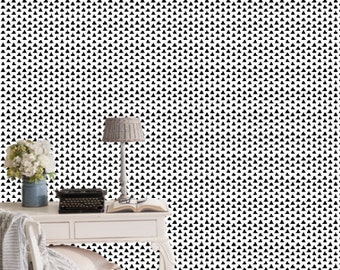 Black Triangles Wallpaper by littlearrowdesigncompany