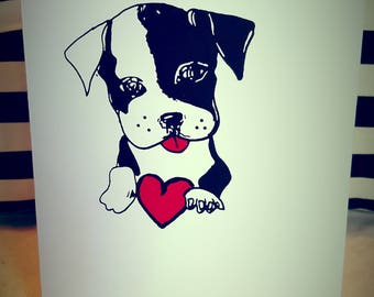 Dog heart card