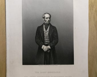 Sir John Somerset Pakington-The Drawing Room Portrait Gallery of Eminent Personages-Engraved by D.J.Pound from a Photograpgh by MAYALL