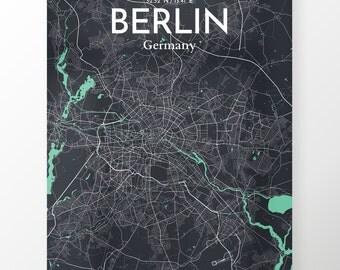 Berlin City Map Poster / Color Dream / Map Art for Berlin / Original Artwork