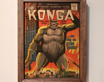 Konga #1 Vintage Comic Book Wooden Sign