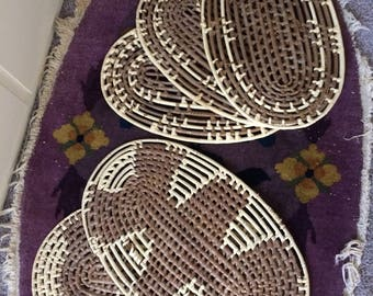Vintage Wall Basket Set/ Placemats/ Decor