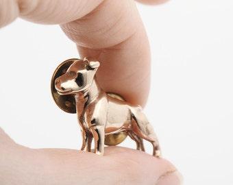 Vakkancs Staffordshire Bullterrier pin (solid bronze)