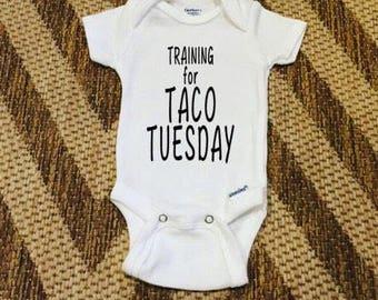 Taco Tuesday Baby Onesie - handmade, custom design, baby gift, baby shower