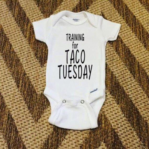 Taco Tuesday Baby Onesie Handmade Custom Design Baby Gift