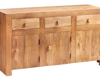 Toko light mango 3 door 3 drawer sideboard - Handcrafted wood