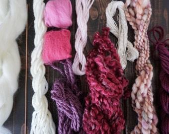 Instruction Video Weave Kit, Weaving Kit, Weaving, Tapestry Woven, Wall Hanging Weaving, Wall Weaving, Copper Dowel, Weave loom, Wool Roving