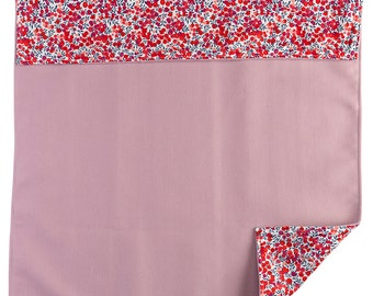 Cover for little girl in pink Libertyoflondon wool and cotton fabric