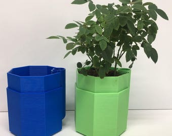 Small Self-Watering Octagon Plant Pots