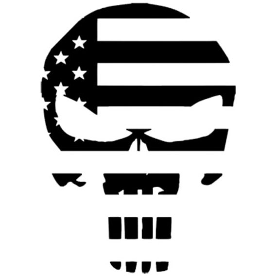 Vinyl Decal Sticker - Punisher Flag Decal for Windows, Cars, Laptops, Macbook, Yeti, Coolers, Mugs etc