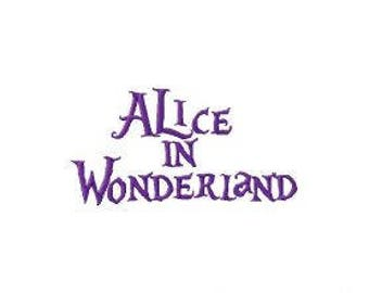 Alice in Wonderland Style Machine Embroidery Font Set Instant Digital download