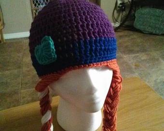 Frozen inspired Anna hat