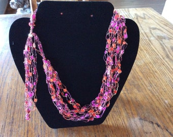 Ladder yarn necklace