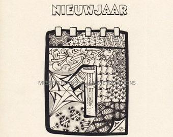 Christmas card - Nieuwjaar
