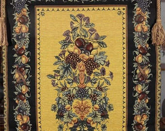 Bountiful Fruit Woven Tapestry Wall Hanging