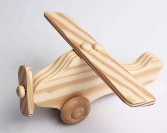 Custom wood toy Airplane (with moving propeller)