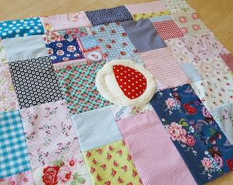 READY patchwork baby blanket