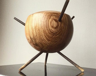Decorative vase in mountain ash
