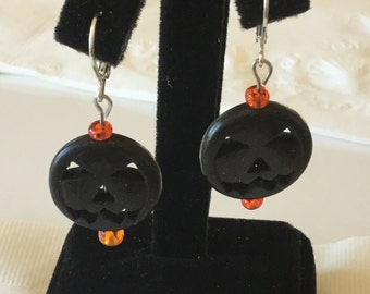 Jack-o-lantern earrings-small