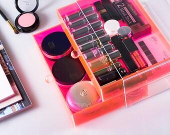 Acrylic Makeup Organizer cosmetic storage lipstick organizer powder box storage