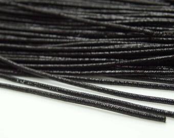 2 mm Black Metallic Thread, Bullion Rough Thread, Purl Stitching Thread, Metallic Bullion Embroidery Thread Art, By 3 Yards MT36I
