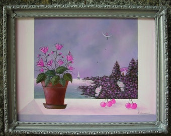 Painting-Luna collection, spring dream ...